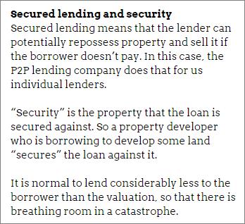 Safest peer-to-peer lending: secured loans and security