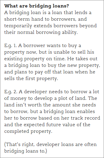 Property peer-to-peer lending: What are bridging loans