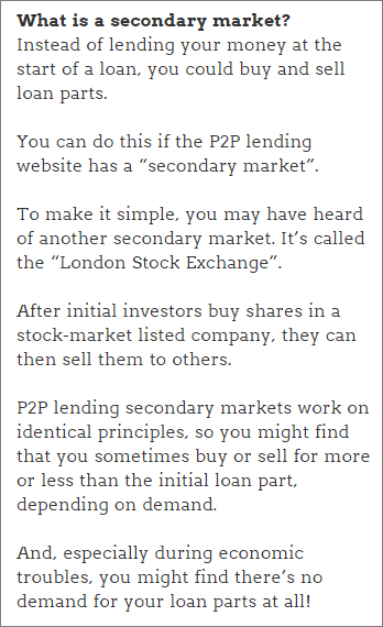 What is a secondary market