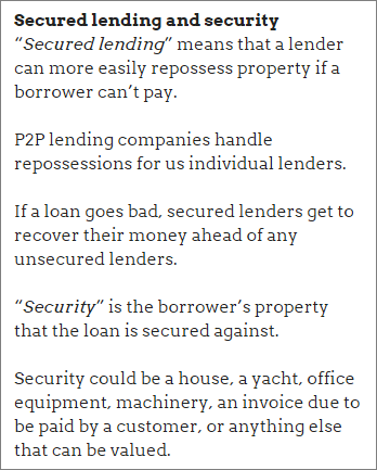 Secured lending and security