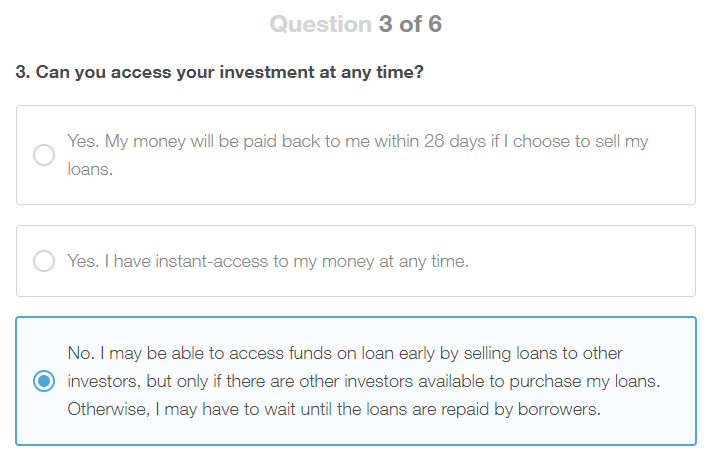 Lending Works Appropriateness Test Question 3