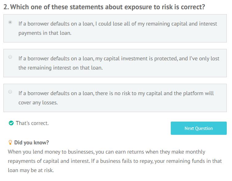 Lending Crowd appropriateness test question 2
