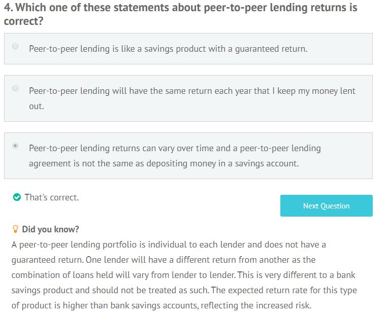 LendingCrowd appropriateness test question 4