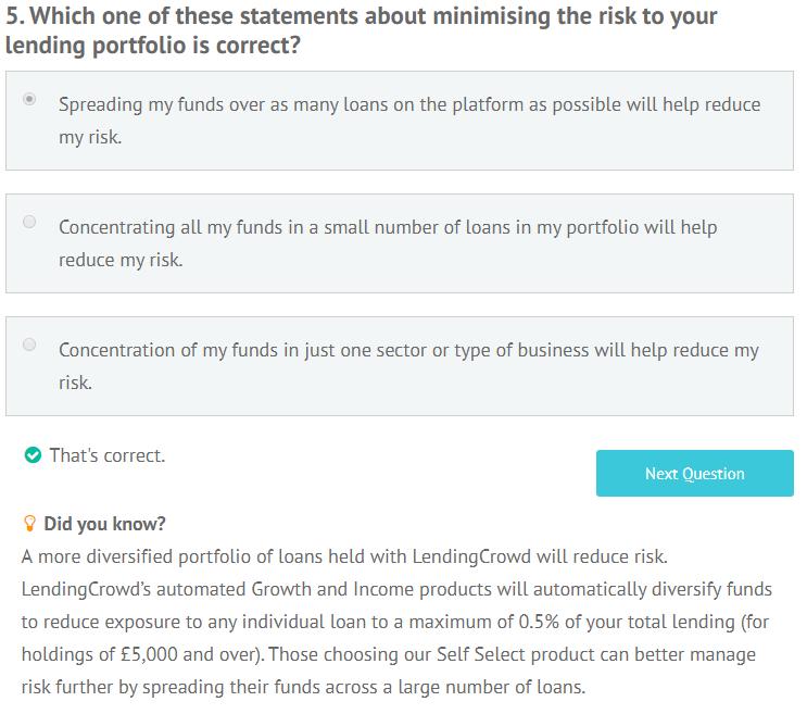 LendingCrowd appropriateness test question 5